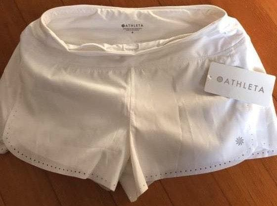 Athleta white shorts