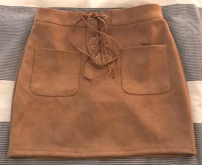 Amazon Tan Suede Skirt