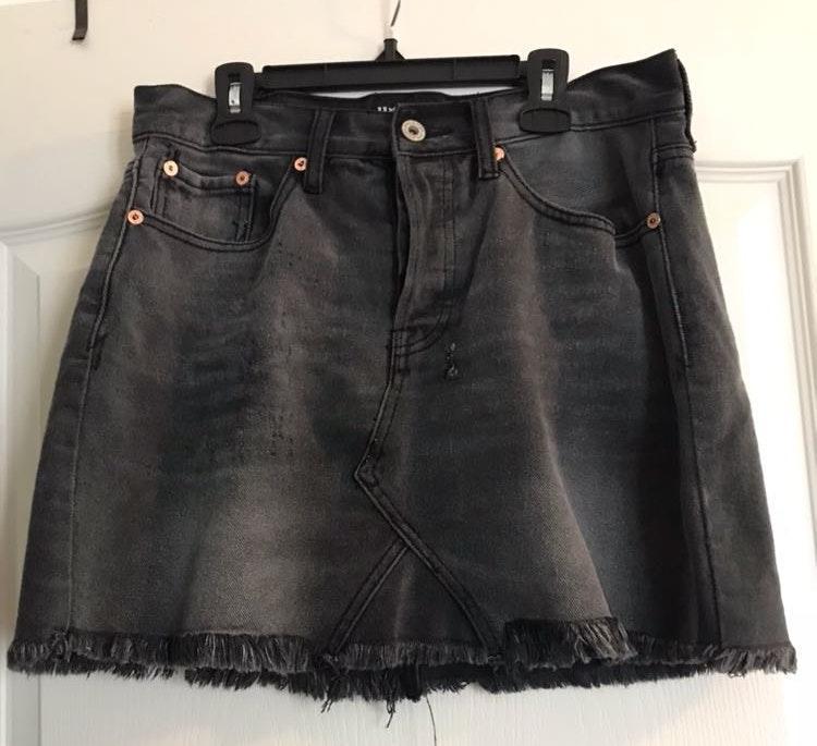 Umgee Black Denim Skirt