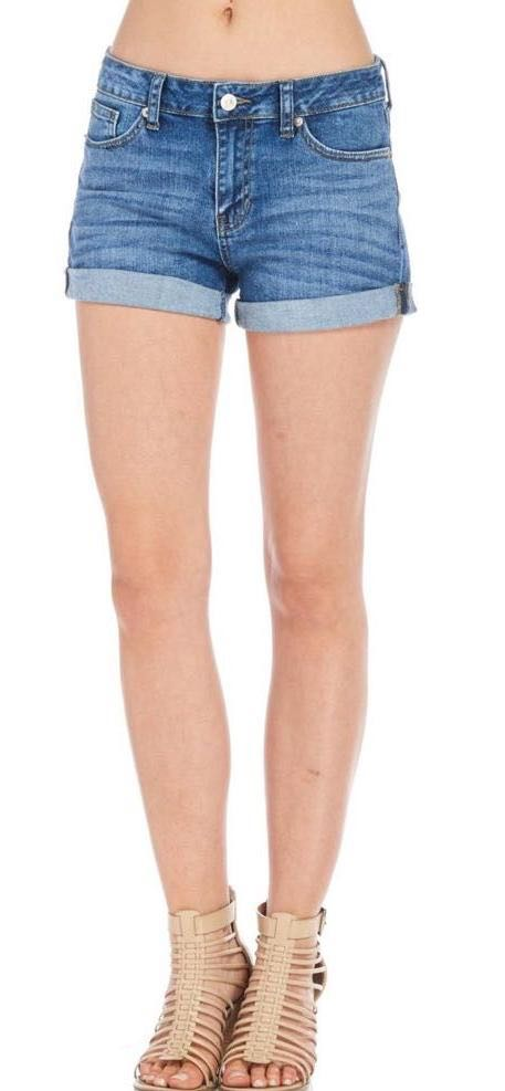 JustUSA Rolled Denim Shorts