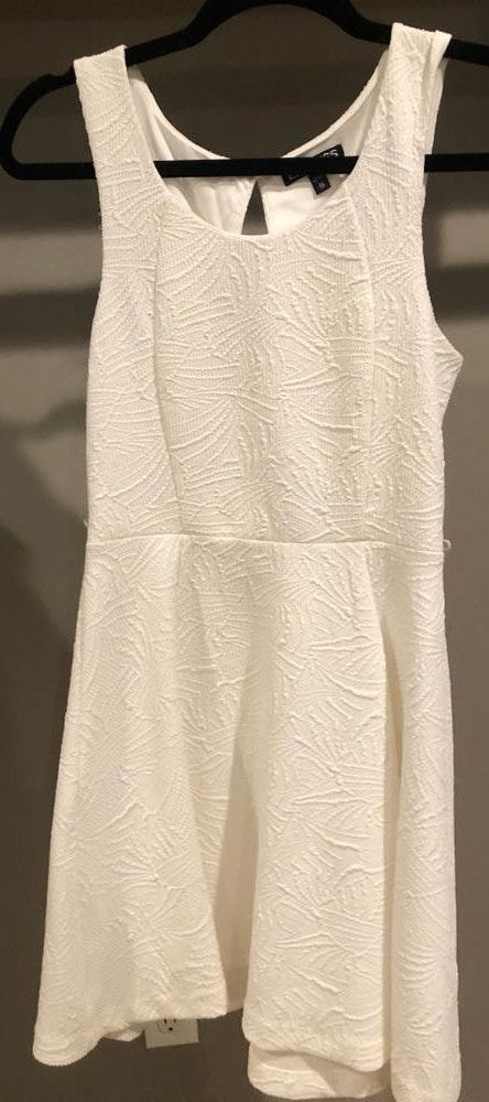 EXPRESS White Flare Dress