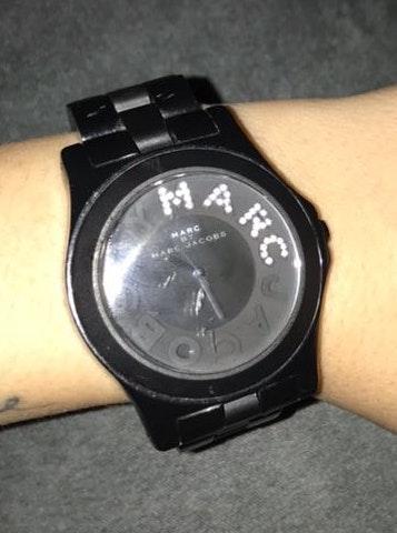 womens bladk marc jacobs watch